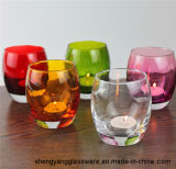 Free Sample Glass Colorful Candle Holders