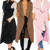 Women Celebirty Waterfall Cape Long Cardigan Sweater