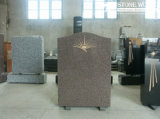 Granite Stone Monument / Tombstone with Custom Design - Tt16