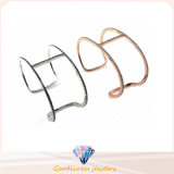 925 Sterling Silver Bangle Jewelry for Rose Gold Plated (Bg0007-1py)