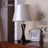 Modern Chinese Fabric Bedside Woodiness Reading Table Lamp for Hotel