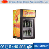 Smad Wholesales Price Small Countertop Display Refrigerator Showcase with Ce