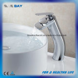 Chrome Finish Brass Waterfall Bathroom Basin Sink Taps