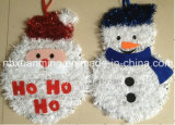 Christmas Tinsel Decoration (25X35cm) Wiht Pingting Paper