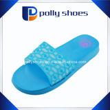 Flower Strap Blue PVC Casual Women′s Slippers