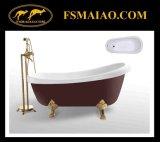Classical-Style Acrylic Freestanding Red Bathtub (BA-8303)