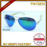 Bamboo and Wooden Frame with Polaroid Lens Sunglasses (FM15233)
