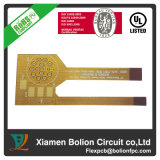 Double-Sided Flexible PCB with Aluminum Stiffener, Minimum Via Is 0.2mm