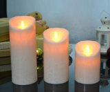 Marble Texture Window Decoration LED Flameless Candle