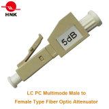 LC/PC Multimode Male to Female Plug Type Fiber Optic Attenuator