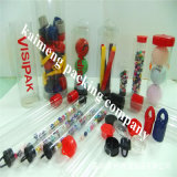 Customized Clear Pet Plastic Cylinder Tubes Package with Colored Cap