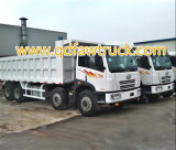 Low Price Used FAW Dump Truck 12 Wheels 380HP 40tons Excellent Condition Use for Africa