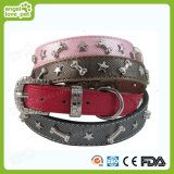 Dog Single Side High Quality Leather Collar with Rivet, Pet Product