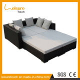 Fashion Multi-Function Outdoor Garden Furniture Rattan Lounger Chair Lying Bed Sofa Set