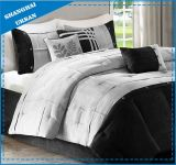 Black and White Microsuede Comforter Bedding