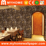Vinyl Washable 3D Ceiling Wallpaper Stone for Walls