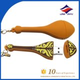Custom Lute Shape Soft PVC Keychain USB Keychain with Ring