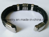 Mens Fashion Jewelry Genuine Leather Bracelet