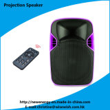 Plastic 12 Inches Loudspeaker with LED Projector and Screen