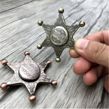 Newest Metal Zinc Alloy Sheriff Hand Spinner Fidget Spinner