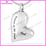Stainless Steel Jewelry Heart Cremation Pendant Necklace (Forever in my heart)