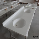 Acrylic Solid Surface Double Sink Bathroom Stone Vanity Top (V1706233)