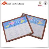 OEM 2017 Microfiber Calendar Mouse Mats