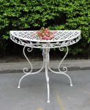 Iron Garden Half Round Table