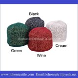 Arabic Hat Embroidery Prayer Man and Woman Kufi Cap Made by Woolen Material