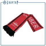 Flat/3D Embroidery Offset Printing, Woven Label Wool Soccer Team Football Fans Scarf, Football Scarf