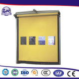 Apply to High Frequented Logistics Channel Fast Speed PVC Folding Rolling Shutter Door