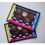 Firework Design Black Overlocking Clothing Woven Badge