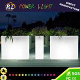 Outdoor Furniture Decorative Waterproof Illuminated LED Plastic Pot