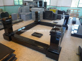 Cheap and Good Quality Black Granite Tombstone in European Model