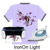Iron-on Inkjet Light Heat Transfer Paper for Clothing