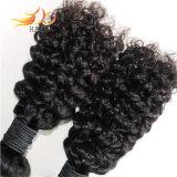 100% Remy Human Hair Jerry Curl Natural Burmese Hair Weaving