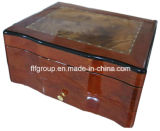 Luxury Glossy Finish Handmade Wooden Cigar Box in Customized Size