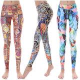 Engineered Placement Print Yoga Pants