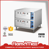 Stainless Steel Hot Sale 2-Drawer Food Warmer for Buns (HW-82)