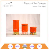 880ml Glass Pasta Canister with Red Color S/S Cover and Cap