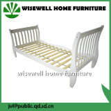 Solid Pine Wood Sleigh Bed for Kids Furniture (W-B-0040)