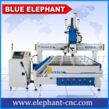 Pneumatic System CNC Multi Head Router, CNC Wood Router Automatic 3D, Atc CNC Router with 4 Axis Rotary 1530