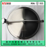 AISI316L 400mm Pressless Round Manhole Cover with Side Swing Opening