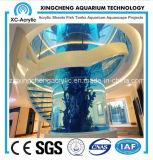 Shopping Malls and Large Cylindrical Aquarium