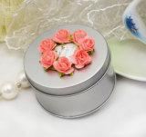 Wedding Round Tin Box Silver (FV-050802)