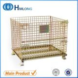 Collapsible Industrial Stackable Storage Wire Mesh Containers