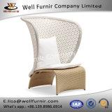 Well Furnir Wicker High Back Single Sofa with Cushions