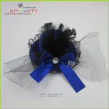Lady Hair Clip Hat with Feather and Bowknot