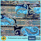 Custom Printed Rayon Fabric for Women Long Dresses Clothing
