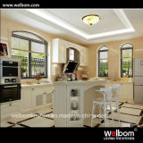 2016 Welbom Island-Shape Bright White Timber Kitchen Furniture